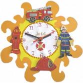 Horloge enfant personnalisée pompier