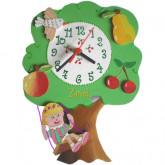 Horloge enfant personnalisée arbre
