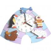 Horloge enfant personnalisée banquise