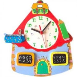Horloge enfant personnalisée école