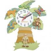 Horloge enfant personnalisée jungle