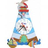 Horloge enfant personnalisée la mer