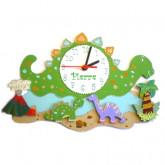 Horloge enfant personnalisée dinosaures