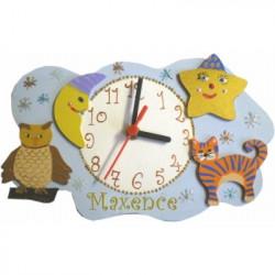 Horloge  enfant personnalisée nuage
