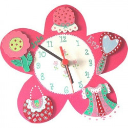 Horloge enfant personnalisée petite fille