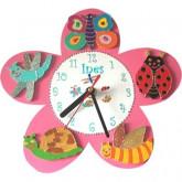 Horloge enfant personnalisée fleur