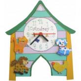 Horloge enfant personnalisée la ferme
