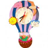 Horloge enfant personnalisée montgolfière