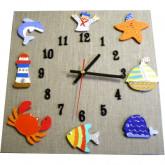 Horloge enfant la mer lin