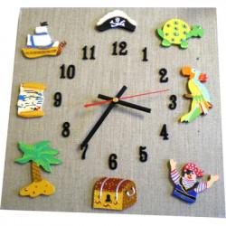 Horloge enfant pirate lin