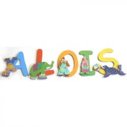 Lettres bois prénom cirque