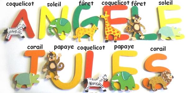 Lettres savane Jules et Angèle