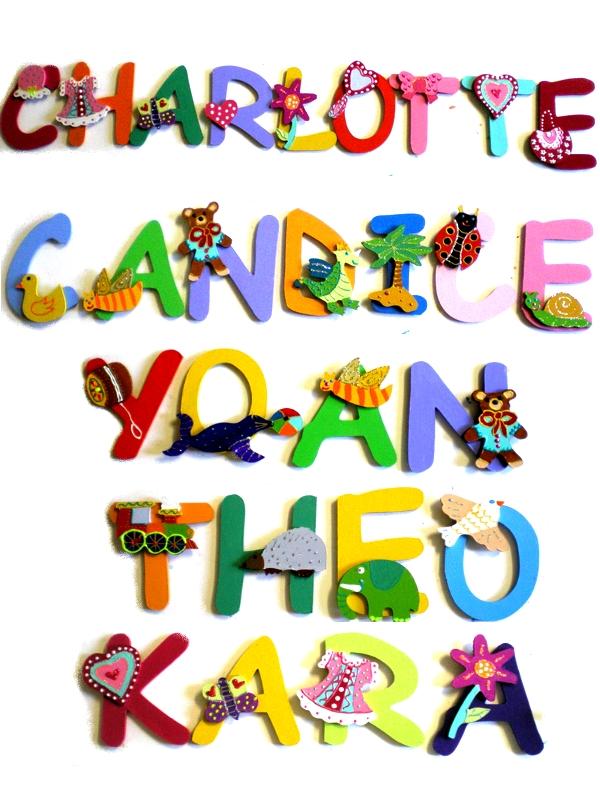 Fabrication De Lettres Artisanales Pour Prénom Billes De Clowns