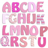 Lettres stickers alphabet