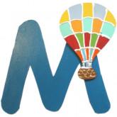 Lettre M comme montgolfière