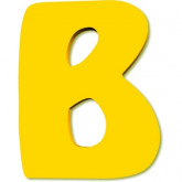 Lettre en bois B