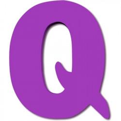 Lettre en bois Q