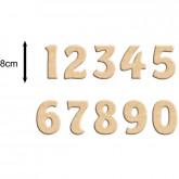 Chiffre en bois à peindre 8 cm (prix à l'unité)