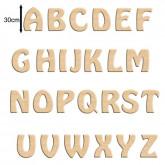 Lettres, prénoms, chiffres en bois à peindre