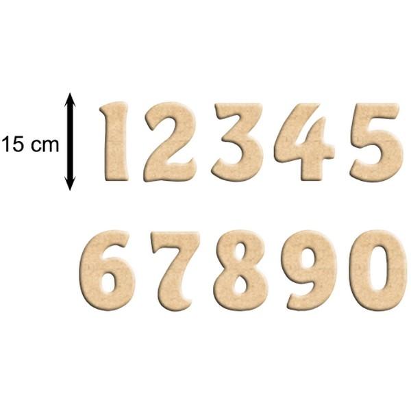 Chiffre en bois 15 cm billes de clowns - Experte en composants 15 lettres ...