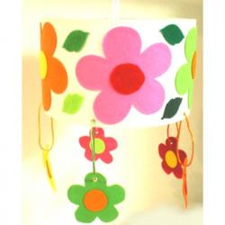 Suspension ronde des fleurs 1
