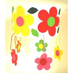 Suspension ronde des fleurs 2