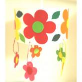 Suspension ronde des fleurs