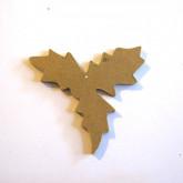 Décoration en bois feuilles de houx
