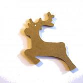 Décoration en bois renne du Père Noël