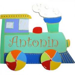 Plaque de porte prénom Locomotive