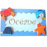 Plaque de porte Océan
