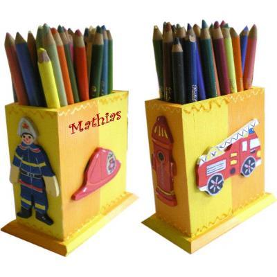 pot crayons pompier billes de clowns. Black Bedroom Furniture Sets. Home Design Ideas