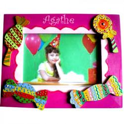 Cadre photo personnalisé bonbons