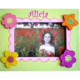 Cadre photo personnalisé les fleurs