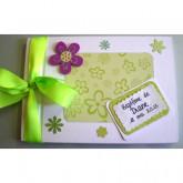 Livre d'or baptême fleur harmonie verte